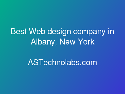 Best Web design company in Albany, New York | Best Web