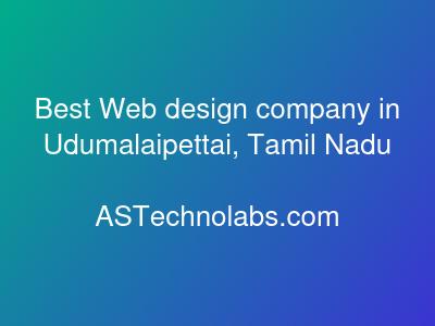 Best Web design company in Udumalaipettai, Tamil Nadu   Best