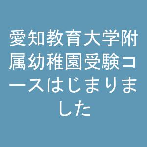 🌺愛知教育大学附属幼稚園受験コースはじまりました🌺