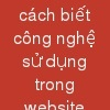 cách biết công nghệ sử dụng trong website