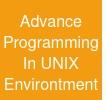 Advance Programming In UNIX Environtment
