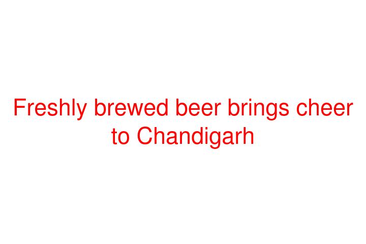 Freshly brewed beer brings cheer to Chandigarh