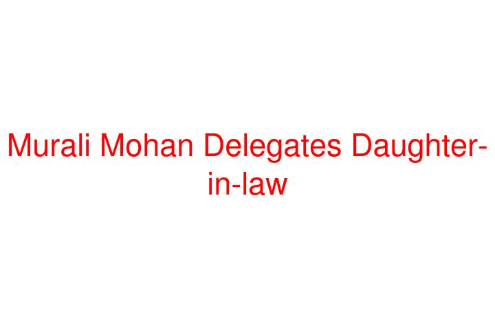 Maganti Murali Mohan Family Photos