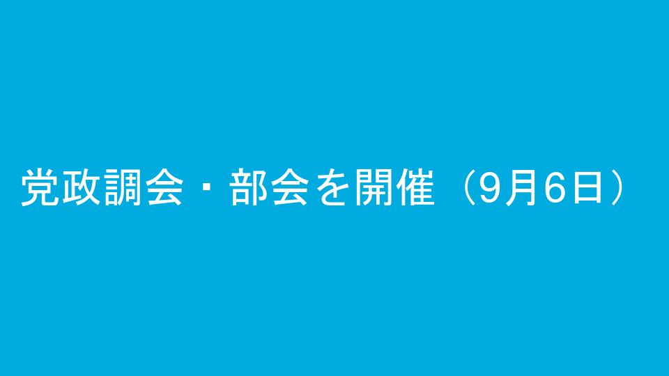 党政調会・部会を開催(9月6日)