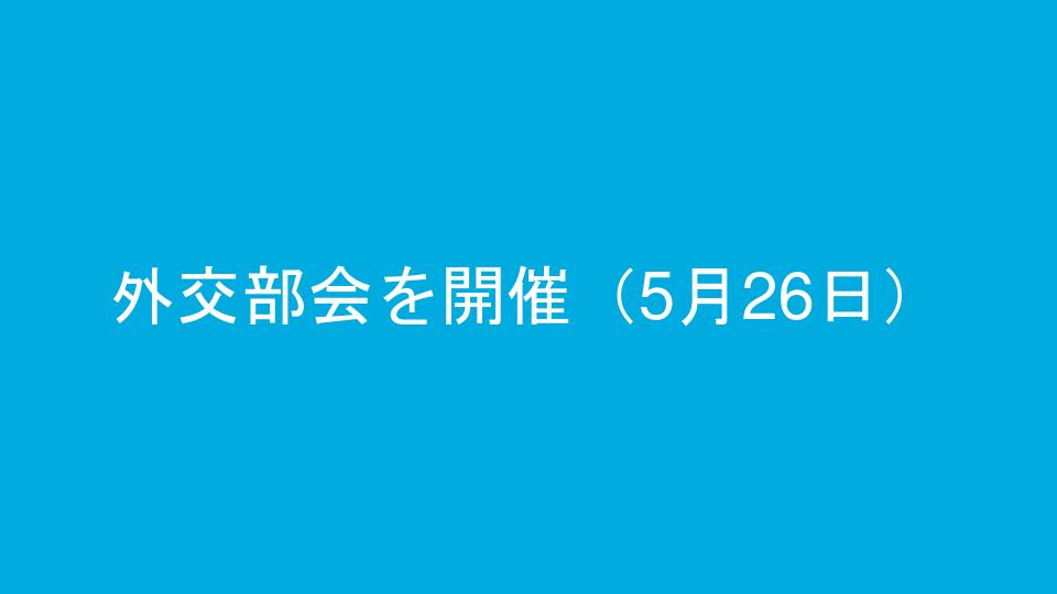 外交部会を開催(5月26日)